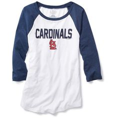 Old Navy MLB Team Tee ($29) ❤ liked on Polyvore featuring tops, t-shirts, curved hem t-shirt, old navy tees, 3/4 sleeve tee, old navy tops and logo t shirts