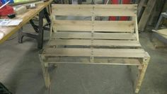 Bench before the stain
