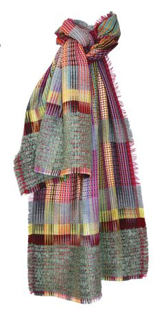 New Wool Mock Leno Cashmere Wrap — Scarves — wallace#sewell