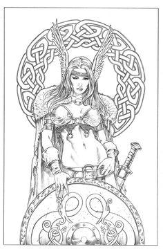 Shield Maiden.. by MitchFoust.deviantart.com on @DeviantArt
