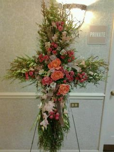 Created by Shannon Harris Sullivan...Most beautiful funeral arrangement ever!