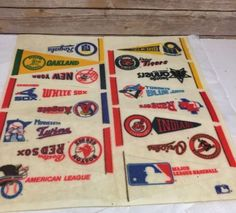928e39f9e2e Vintage Baseball Pennants American League ca 1986 Lot 16