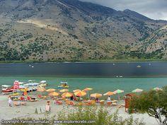 παραλια στη λιμνη κουρνα