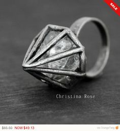 Celebrate Sale PURE CRYSTAL DIAMOND A by ChristinaRoseJewelry
