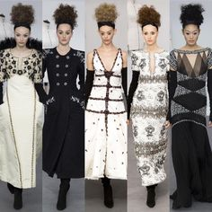 Black and white and Chanel all over! Karl Lagerfeld does it again! Amazing!