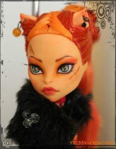 by Freddy Tan, by FreddyCreations Custom Monster High Dolls, Monster High Repaint, Custom Dolls, Ooak Dolls, Barbie Dolls, Creepy, Anime Girl Hot, Cat Doll, Doll Repaint