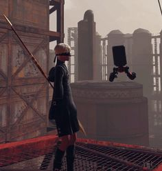 You can fist bump your pod in Nier Automata