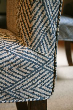 Custom Slipcovers by Shelley: Parson Chairs - top-stitched details