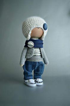 Фотография Boy Doll, Soft Dolls, Cute Dolls, Fabric Dolls, Stuffed Toys Patterns, Little People, Needle Felting, Baby Toys, Doll Clothes