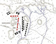 Map of the Battle of Isandlwana on January 1879 in the Zulu War: map by John Fawkes Hawaii Travel, Thailand Travel, Croatia Travel, Bangkok Thailand, Italy Travel, Military Photos, Military History, Zulu, French Quarter Map