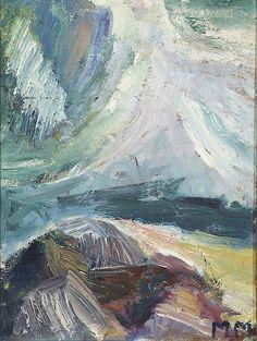 Mauno Markkula: Rantakallio, öljy levylle, 35x27 cm - Hagelstam K123