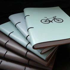Personalised Leather Bound Bicycle Journal