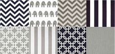gray, white and navy blue boy nursery - Love this color scheme for our baby boy's nursery!