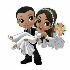 Wedding Doll, Tree Wedding, Wedding Cards, Wedding Drawing, Mehndi Art Designs, Wedding Topper, Universe Art, Couple Art, Floral Border