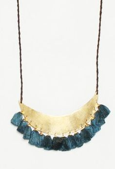Hazel Cox, Turkish Moon Necklace, bronze and silk tassels