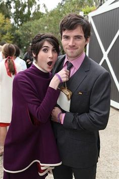 Ian Harding and girlfriend Candy Crowns...