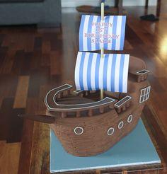 Pirate Ship cake tutorial - best one I've found so far