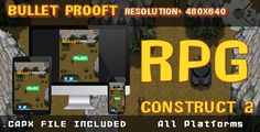 Bullet Prooft – RPG – (.CAPX) . About:Game based on the original Atari Arcade – on a battlefield you need to survive and eliminate 10 enemies to pass