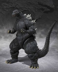 """Bandai Tamashii Nations S.H. MonsterArts Godzilla 1995 (Birth Ver) """"GodzillavsDestroyah"""" Action Figure   Bandai Tamashii Nations S.H. MonsterArts Godzilla 1995 (Birth Ver) """"GodzillavsDestroyah"""" Action Figure Godzilla as he re-appears in the final seconds of the 1995 """"Godzilla vs Destroyah"""" movie joins the high end S.H.MonsterArts advanced monster action figure series with meticulously crafted detail and dynamic articulation. This deluxe kaiju action figure set features atomic breath .."""