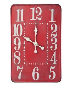 Red Montana Wall Clock by Foreside