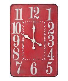 Red Montana Wall Clock