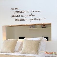 Vinyl Wall Decals Quotes will certainly stay with some textured areas. Vinyl Wall Art Quotes could embellish your wall surfaces and chart the growth of your children from infancy to their adult years. Vinyl Quotes, Wall Art Quotes, Wall Sayings, Vinyl Wall Decals, Wall Stickers, Inspirational Wall Quotes, Motivational, Diy Gifts For Kids, Love Wall