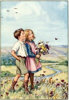 "'CRIVENS! from the COMICS BLOG says ""Way back in the early '80s, I was at a Christmas Fayre in my old primary school and acquired a small publication called THE LITTLE PICTURE HYMN BOOK"" by. CICELI MARY BARKER  THE FAIRY AND FLOWER GIRL..."