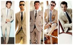 Wearing suits is generally easier to complete than most clothing, as it shows fit for best suit combinations.But of course, it has some subtleties. Mens Shirt And Tie, Mens Slacks, Suit And Tie, Tan Suit Men, Mens Suits, Suits Direct, Dark Blue Suit, Charcoal Suit, Suit Combinations
