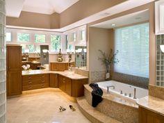 How to Clean a Bathtub: How To Clean A Bathtub With White Bathtub And Marble Vanity Design