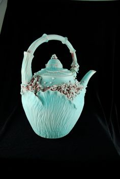 Leafy Rosey Garden Teapot  Large by ClayChimera on Etsy, $140.00
