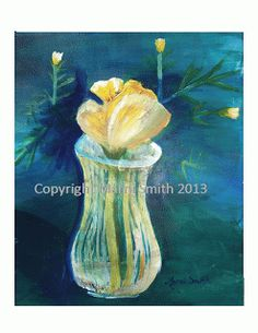 "By Marni: Flower in a Vase 30"" x 24"" Not for Sale"