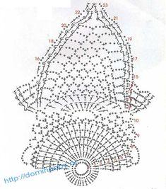 Esquema Diagrama Patrón Ganchillo Crochet схема салфетки 11