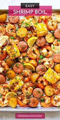 Shrimp And Corn Recipe, Sausage And Shrimp Recipes, Seafood Boil Recipes, Grilled Shrimp Recipes, Corn Recipes, Salmon Recipes, Fish Recipes, Dinner Recipes, Cajun Seafood Recipe