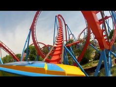 Dragon Khan Roller Coaster POV Front Seat View from PortAventura Spain 1080p HD