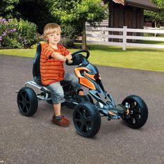 Kids Pedal Go Kart Ride On Indoor Outdoor Plastic Steel Braking System 3-8 Years #KidsPedalGoKart