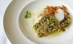 Pistachio-Crusted Cod with Crispy Fennel   Cod is a delicate fish. So the less you can handle it during the cooking process, the better.