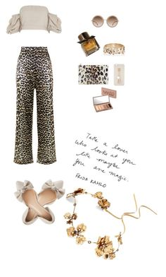 """""""Untitled #9"""" by nicole-grimshaw on Polyvore featuring Twigs & Honey, Ganni, River Island, Privé, Kate Spade, Iphoria, Lanvin, Burberry, Urban Decay and Charlotte Russe"""