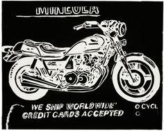 Mineola Motorcycle, c. 1985-86 - Andy Warhol Prints - Easyart.com