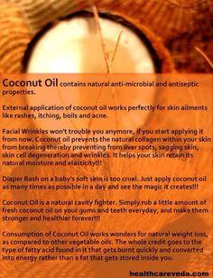 Coconut Oil  --  it's Uses  &  Benefits