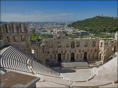 Ampitheater, Athens, Greece - Yanni performed a concert here. My Mother saw the concert on video and fell in love with Yanni and his music. We shared the love for his music and went to a concert together during one of my Mom's visits to Dallas. A great memory!