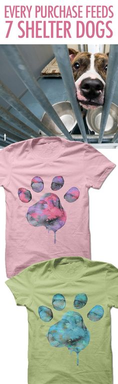 I love love love this design! And for such a great cause! http://iheartdogs.com/product/watercolor-paw/?utm_source=PinterestAd_WatercolorPawShelterFeeds&utm_medium=link&utm_campaign=PinterestAd_WatercolorPawShelterFeeds