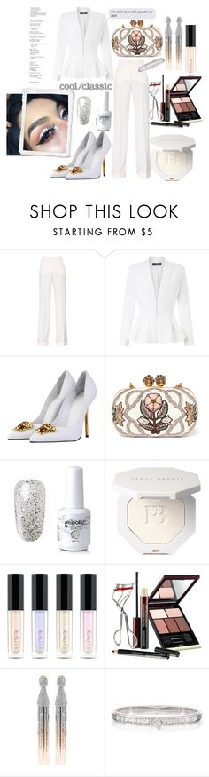 """""""Pure as white, white winter"""" by ensiasubhani ❤ liked on Polyvore featuring Dolce&Gabbana, Miss Selfridge, Versace, Alexander McQueen, Huda Beauty, Kevyn Aucoin, Oscar de la Renta, chic, Sexy and fashionset"""