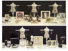 Jewelry display on miniature dressmakers form.  Pickupsticks.net