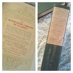 Antique Book. The Roxburghe Library of Classics. Green gift book. The Lonely Book Junkie.