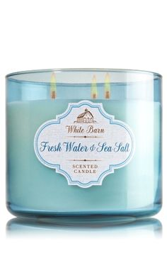 Bath & Body Works Fresh Water & Sea Salt $22.50 : Refresh a room with the clean fragrance of crisp water notes, sea salt crystals and a bright hint of citrus