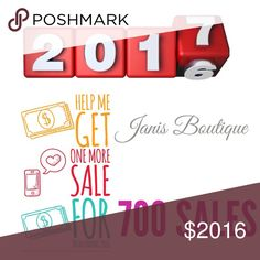One More for 700 Total! Very Honored to have sold 699 Listings...Pleas Help Me Get one more sale ending 2016.  ⚘Thank⚘You⚘ Janis Boutique  Jewelry