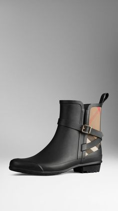 Best rubber boots for Spring: Burberry House Check Rain Boots ($325)