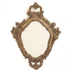 Continental Rococo giltwood wall mirror : Lot 1266