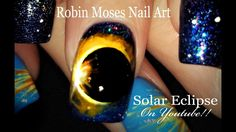 Up NEW for monday! Brushes at robinmosesnailart.com! #SolarEclipse #Nails! Is it a #HollowMoon #shadowing our #Sun? #nailart #design #tutorial #eclipse Unbelievable...