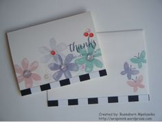 Thank you card, Stampin' Up! Garden in Bloom